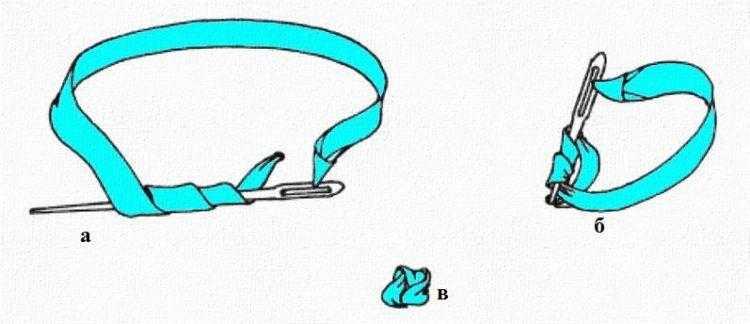 стежок французский узелок