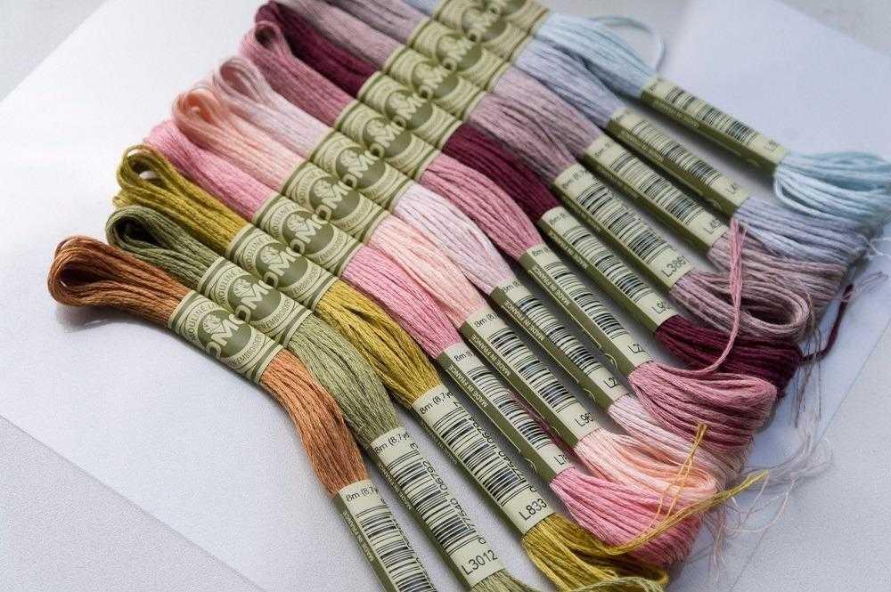 льняные нитки для вышивки