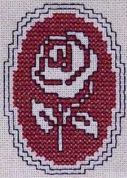 ассизи вышивка розы