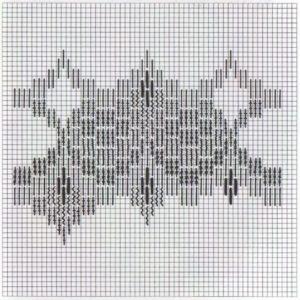 схема вышивки барджелло пузырьки