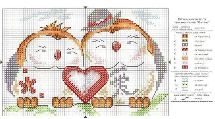 схема вышивки крестом любовь в доме