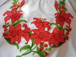 блуза расшитая бисером
