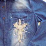 Как вышить джинсовую рубашку бисером
