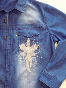 бисер на рубашке