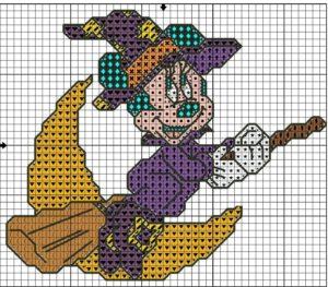 Схемы для вышивания крестиком на Хеллоуин