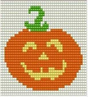 схемы тыква бисером на хеллоуин
