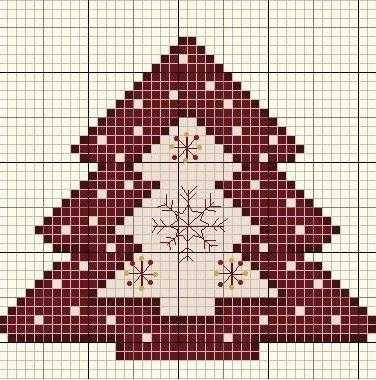 схема вышивки елка