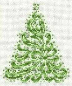 новогодние схемы крестом, елка