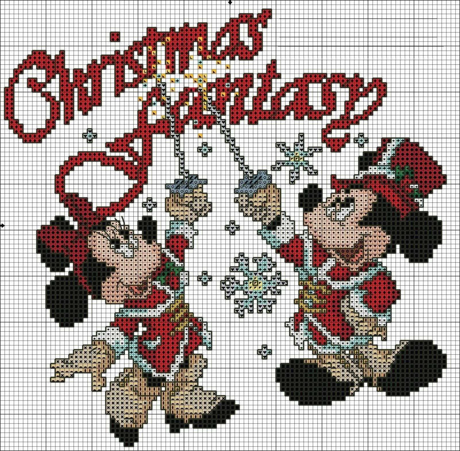 схема крестиком рождественская фантазия