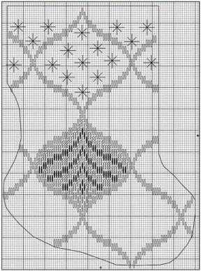 Новогодние схемы для вышивания в технике барджелло