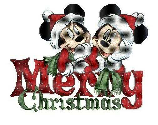 вышивка крестом веселого рождества
