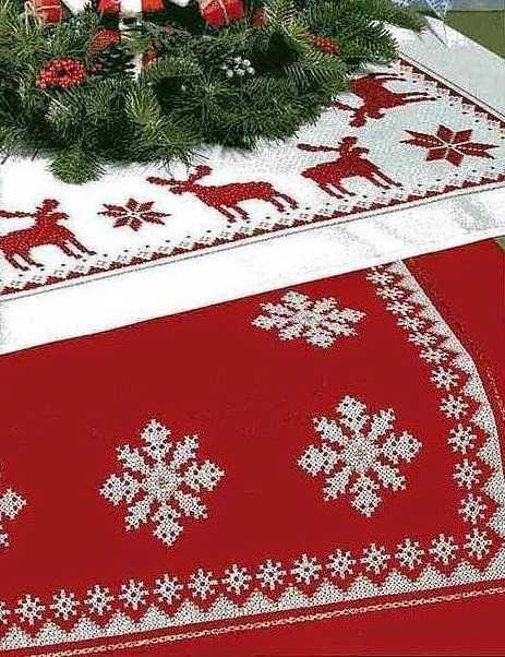 рождественская салфетка