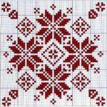 новогодние схемы крестиком снежинок