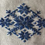 вышивка крестом снежинка