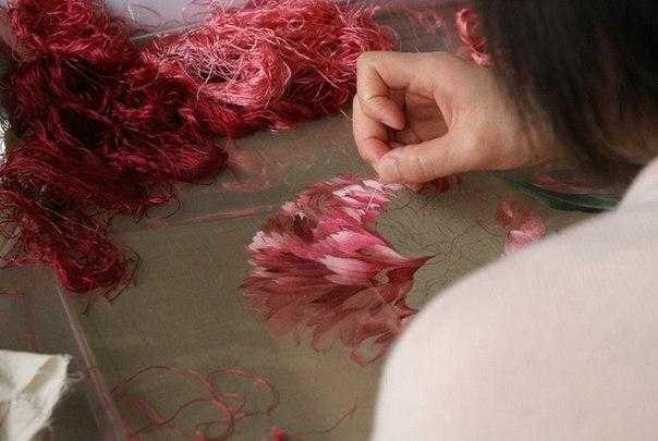 техника вышивания