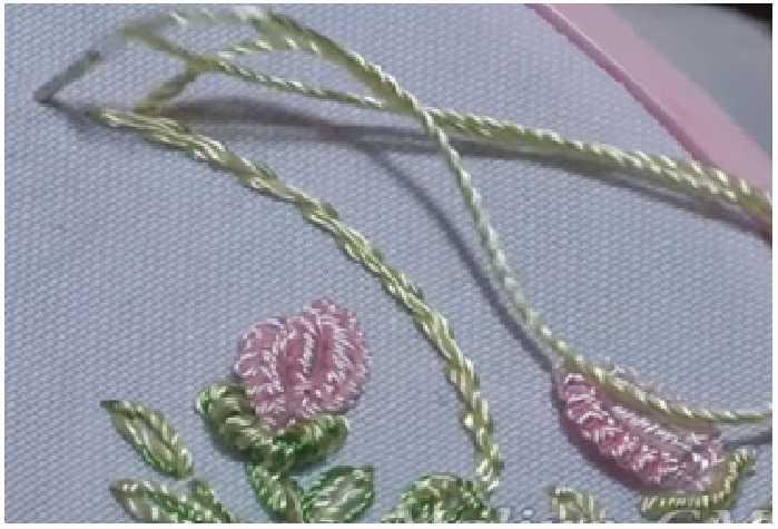 бразильская вышивка розы