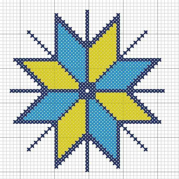крест сварога схема вышивки