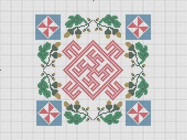 схема цвет папоротника при простуде