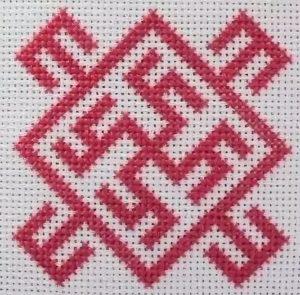 вышивка оберег цвет папоротника