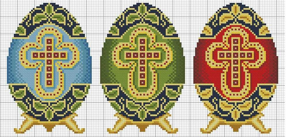 пасхальные яйца схемы вышивки