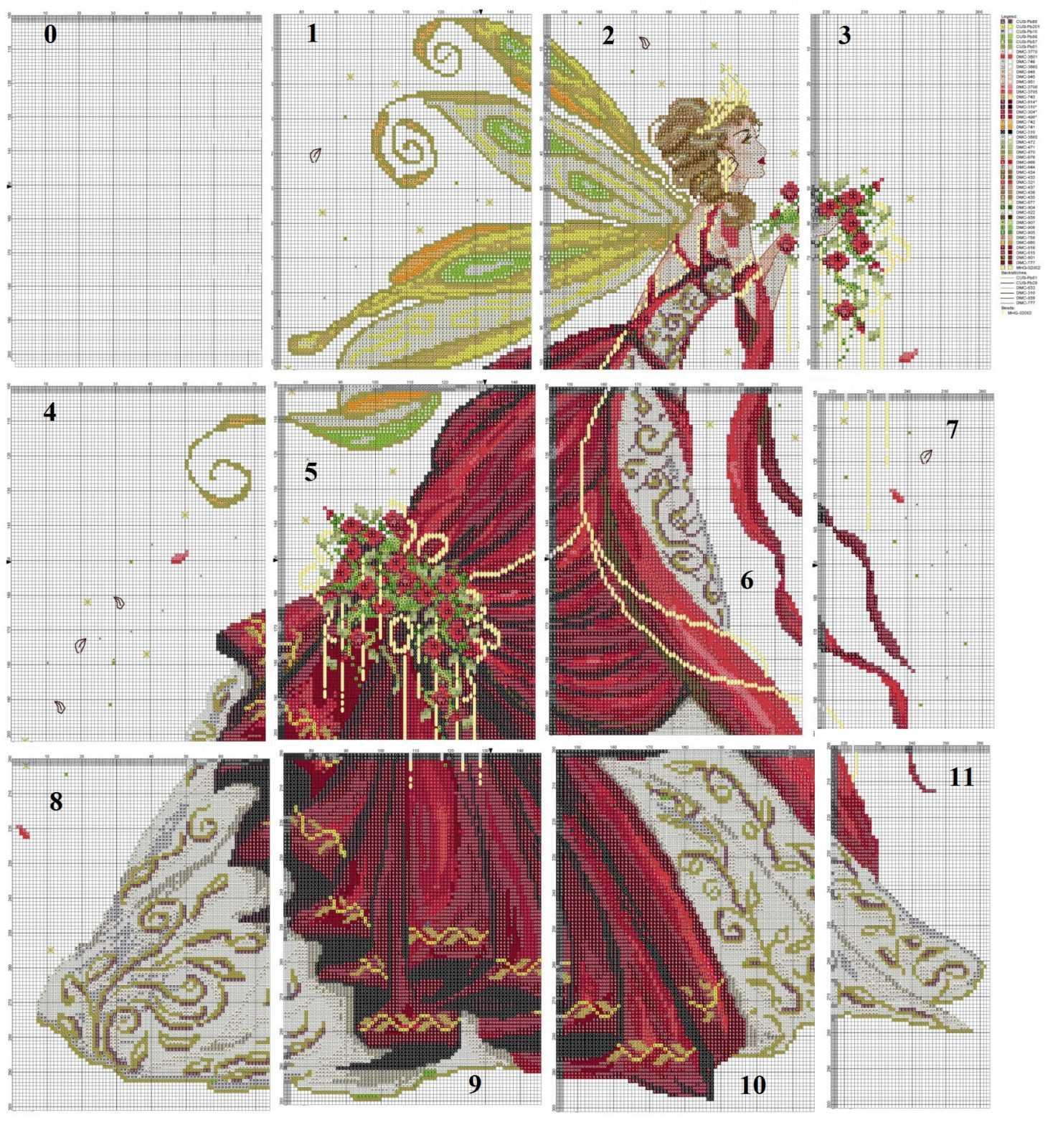 схема вышивки весенняя фея