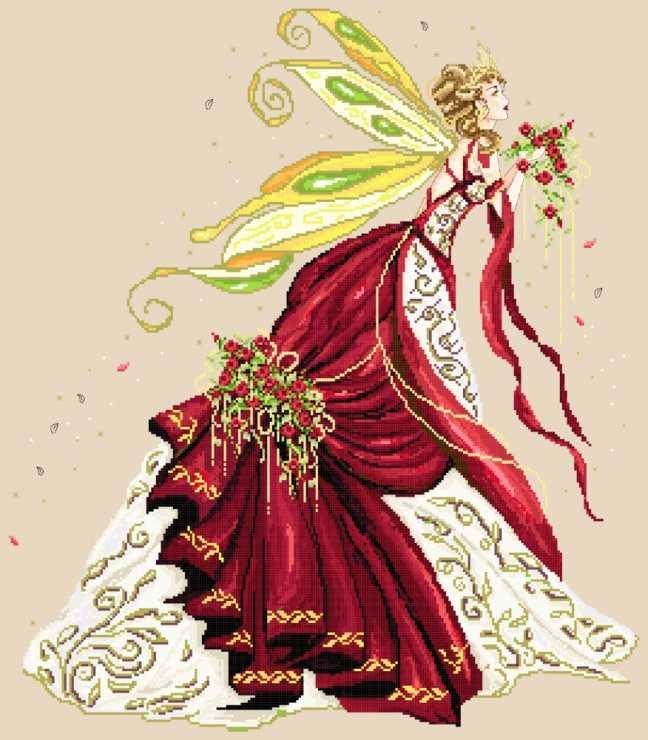 вышивка весенняя фея