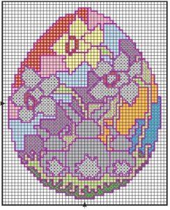 схема вышивки пасхальных яиц