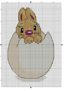 пасхальный заяц вышивка