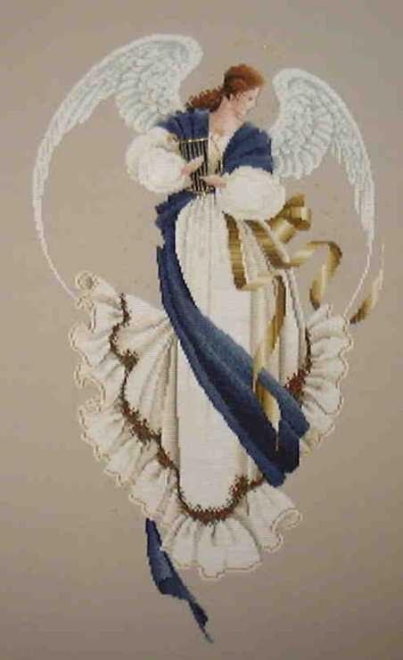 вышивка весенний ангел