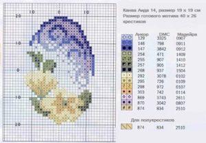 пасхальное яйцо схема вышивки