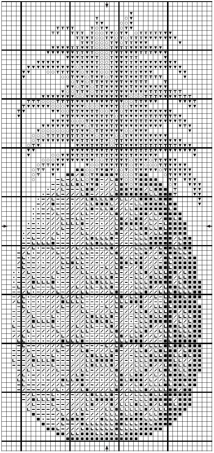 ананас схема крестиком