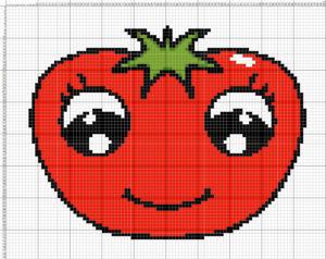 вышивка овощей, помидор