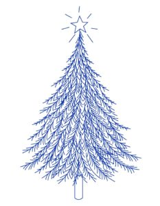 рисунок елки для вышивки