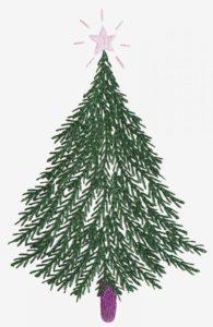 новогодняя елка вышивка гладью