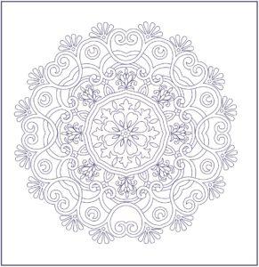 рисунок снежинки для вышивки