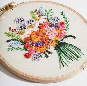 бразильская вышивка букет цветов