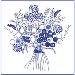 рисунок букета для вышивки