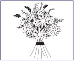 рисунок букета для бразильской вышивки