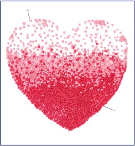 схемы бразильской вышивки сердце