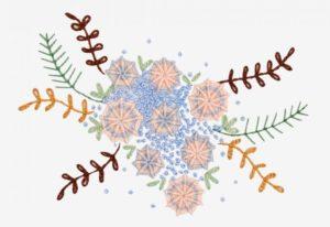 бразильская вышивка цветов