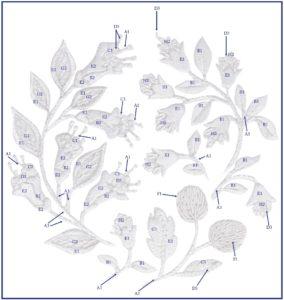 схема вышивки белая гладь