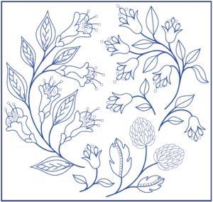 рисунок для вышивки белая гладь