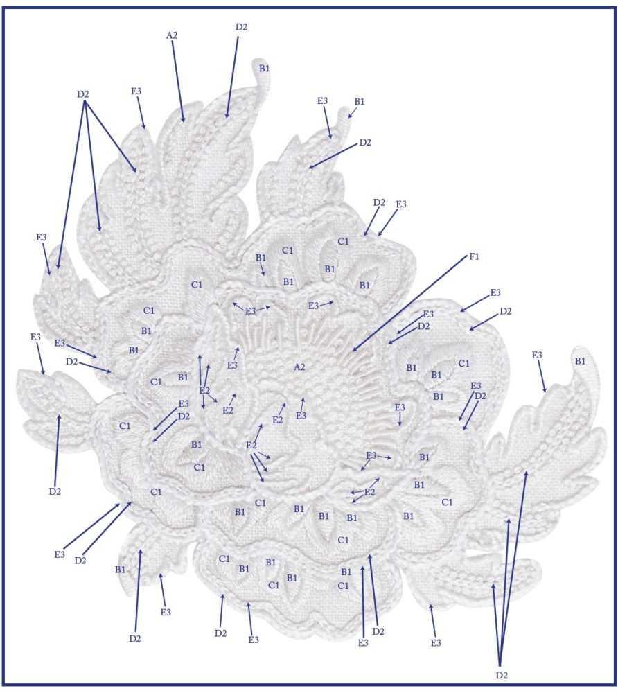 белая гладь вышивка цветов
