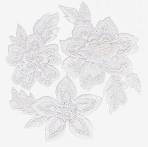 вышивка белой гладью цветы