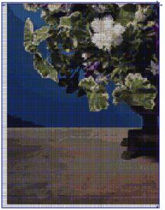 схема крестом белые розы