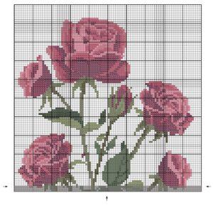букет роз вышивка крестом