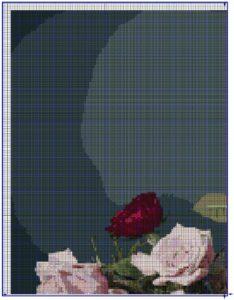 схема крестиком розы