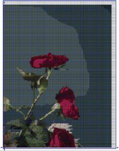 схема крестом розы