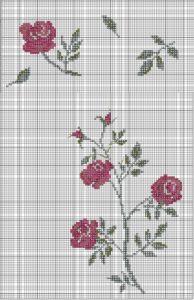 вышивка розы крестиком