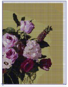 схема вышивки картин розы